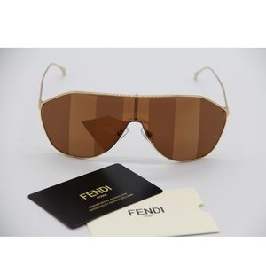 NEW SUNGLASSES FENDI FF 0405/S 01Q SHIELD FF0405/S